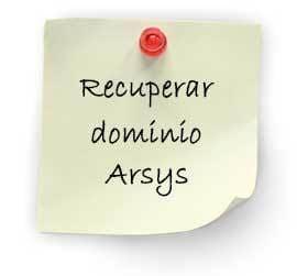 recuperar dominio arsys