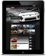 Diseño adaptable García Racing iPad