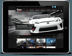 Diseño adaptable García Racing iPad 2