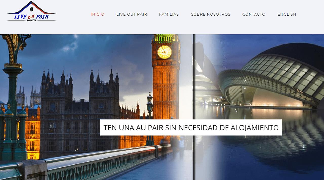 Proyecto de diseño web y corporativo Live out pair Valencia