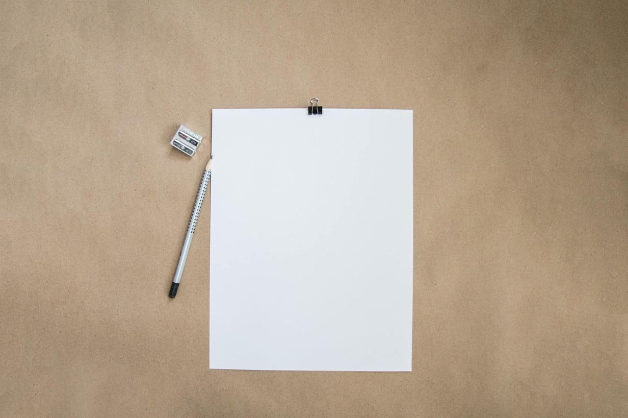 Un folio, el miedo a quedarse en blanco