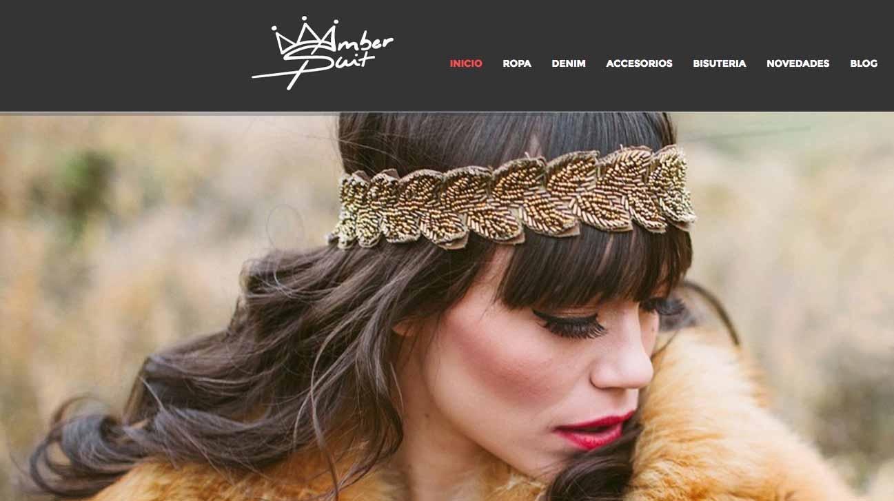 Proyecto de tienda online Amber Suit