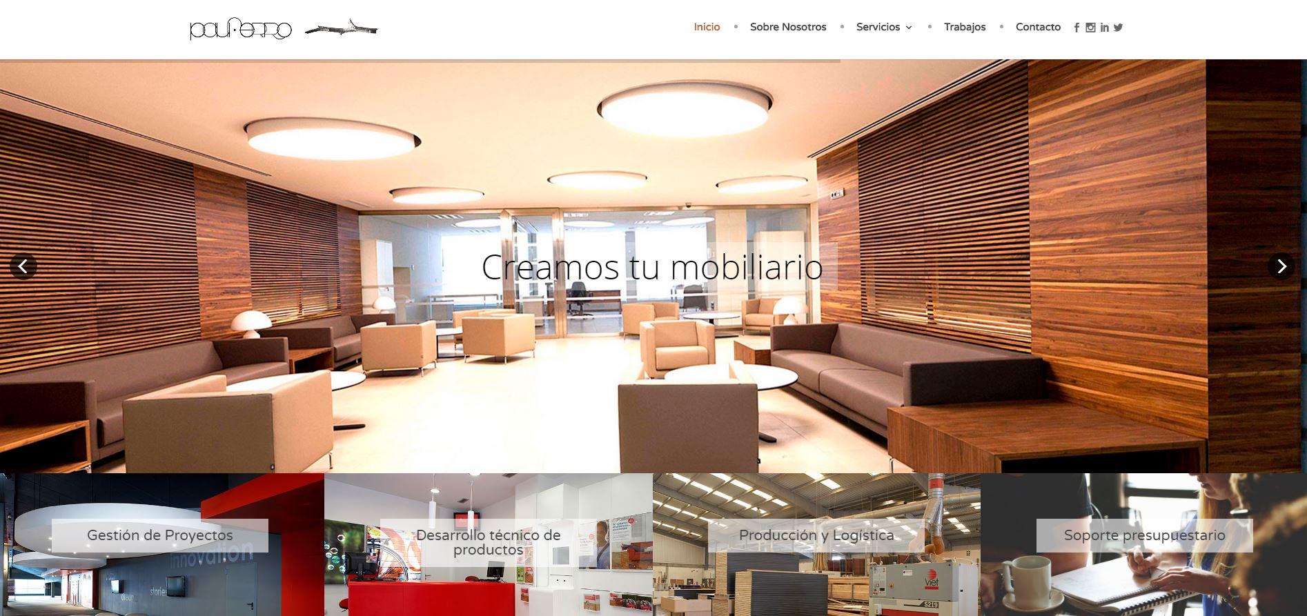 Nuevo proyecto de Diseño Web: Pauferro