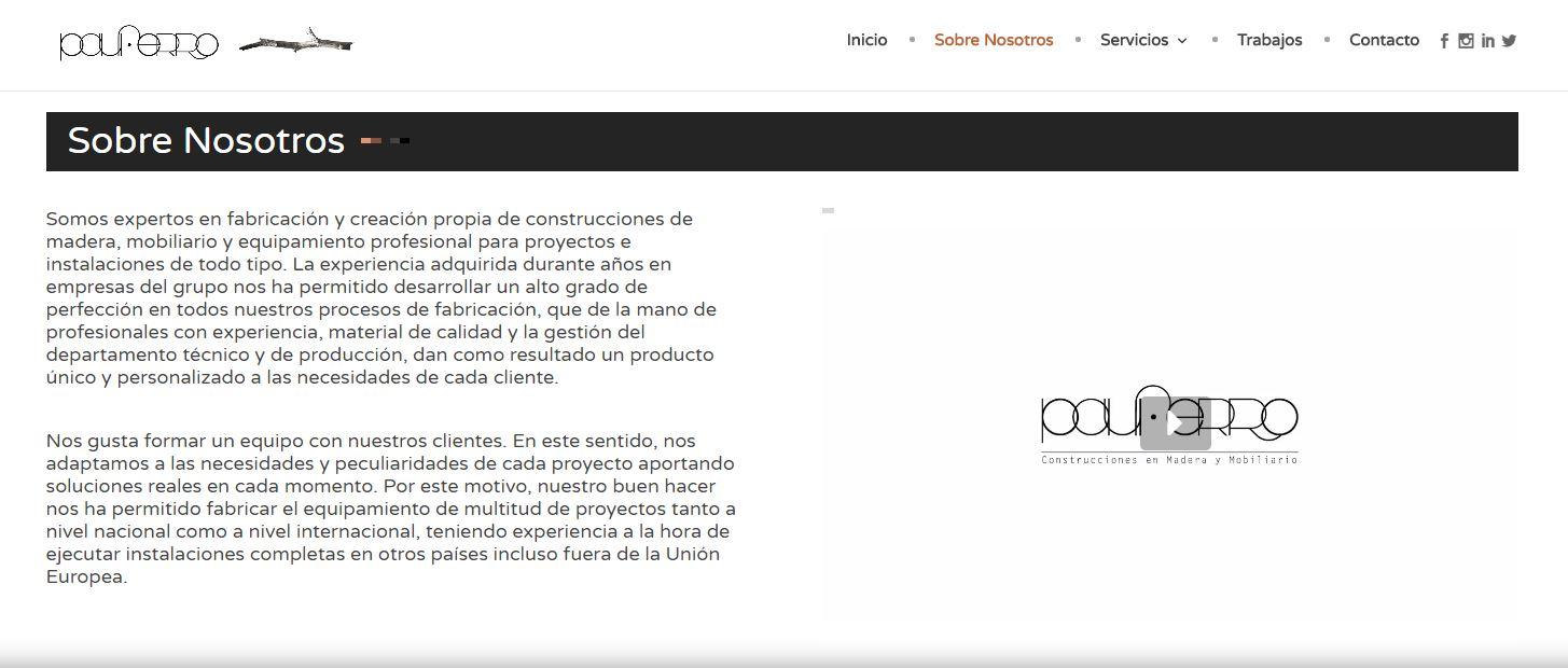 Diseño Web Mobiliario contract Pauferro imagen 3