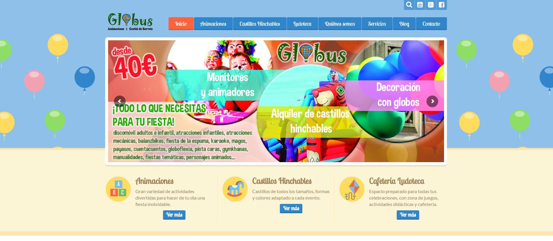 Nuevo proyecto de Diseño Web: Globus Animacions