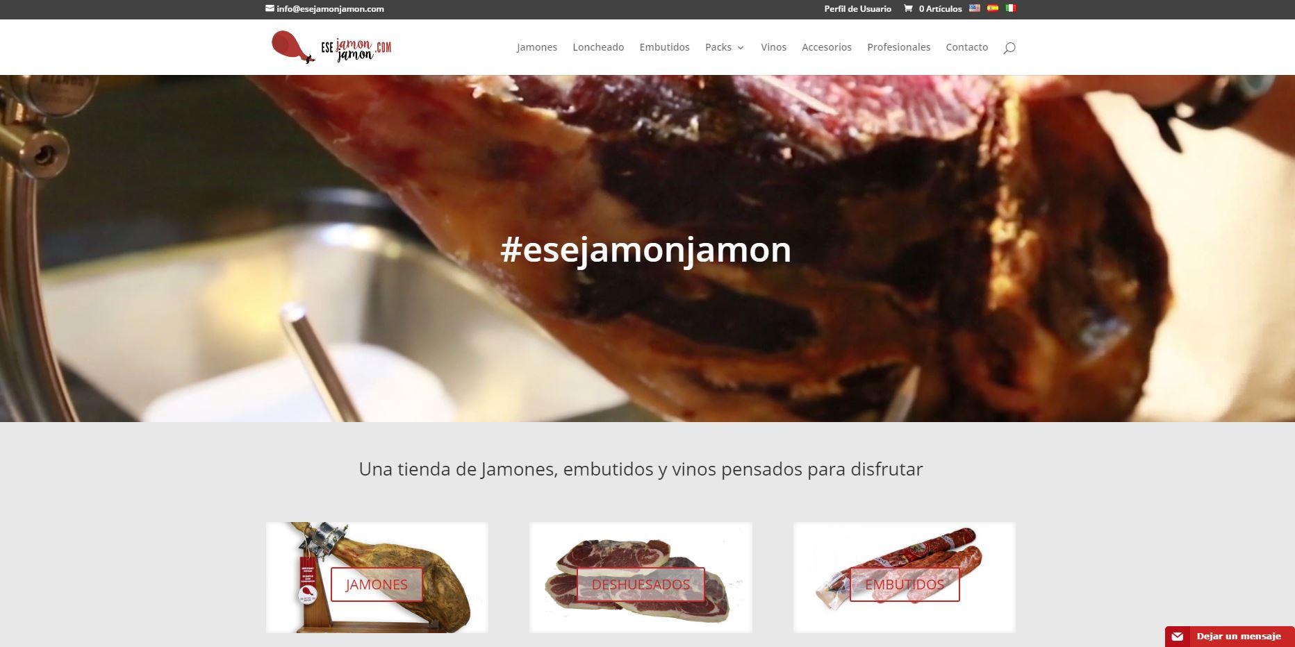 Nuevo proyecto de Diseño Web: Ese Jamón Jamón
