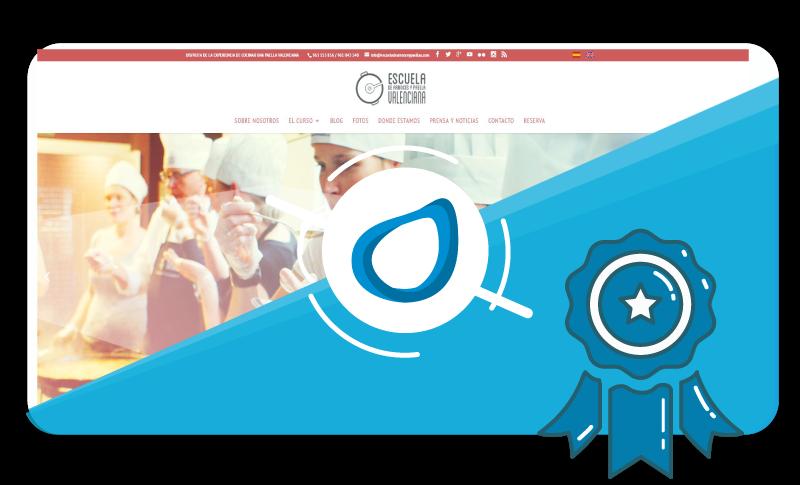 Caso de éxito Diseño web Escuela de arroces y paellas