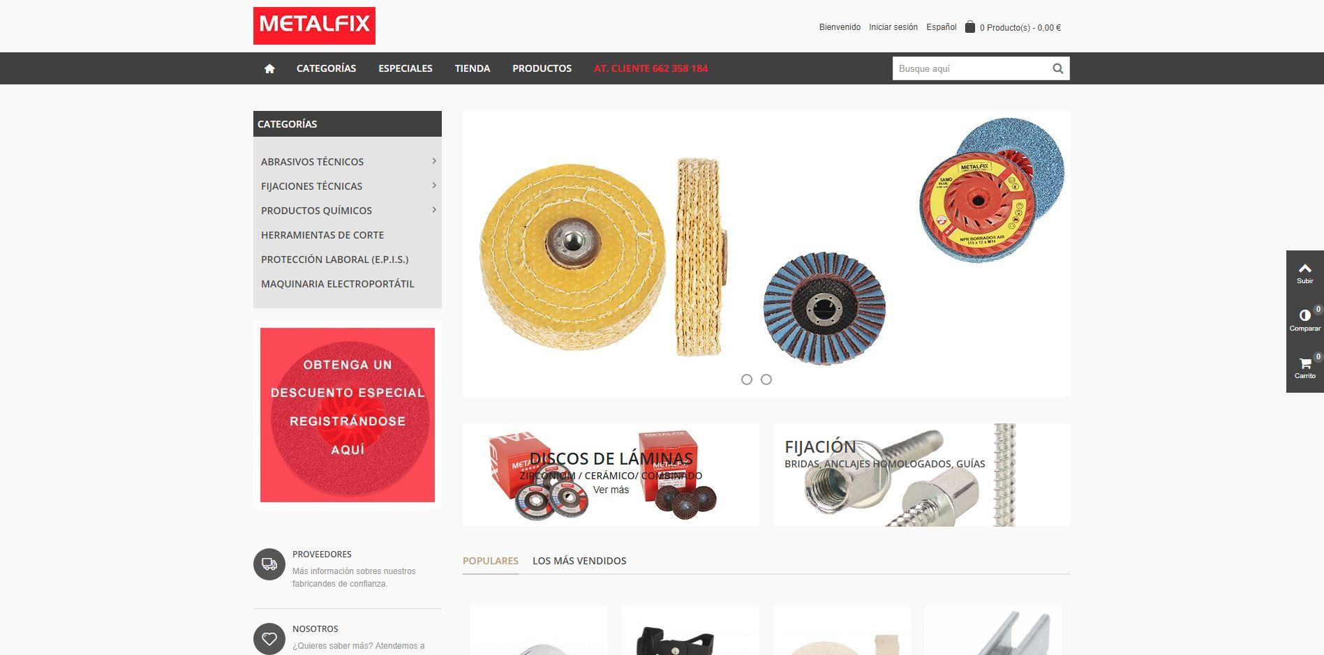 Nuevo proyecto de Diseño Web: MetalFix