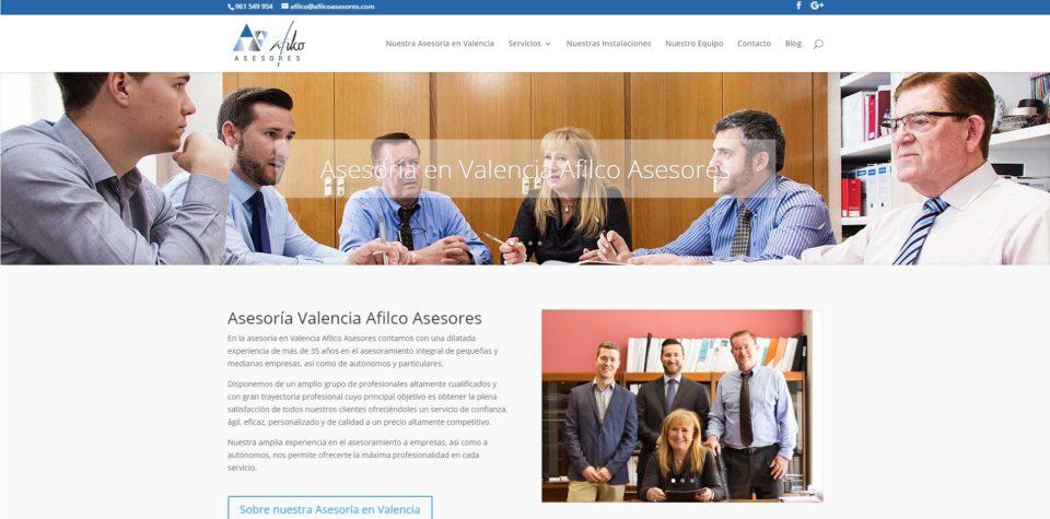 Nuevo proyecto de Diseño Web: Asesoría Valencia Afilco Asesores