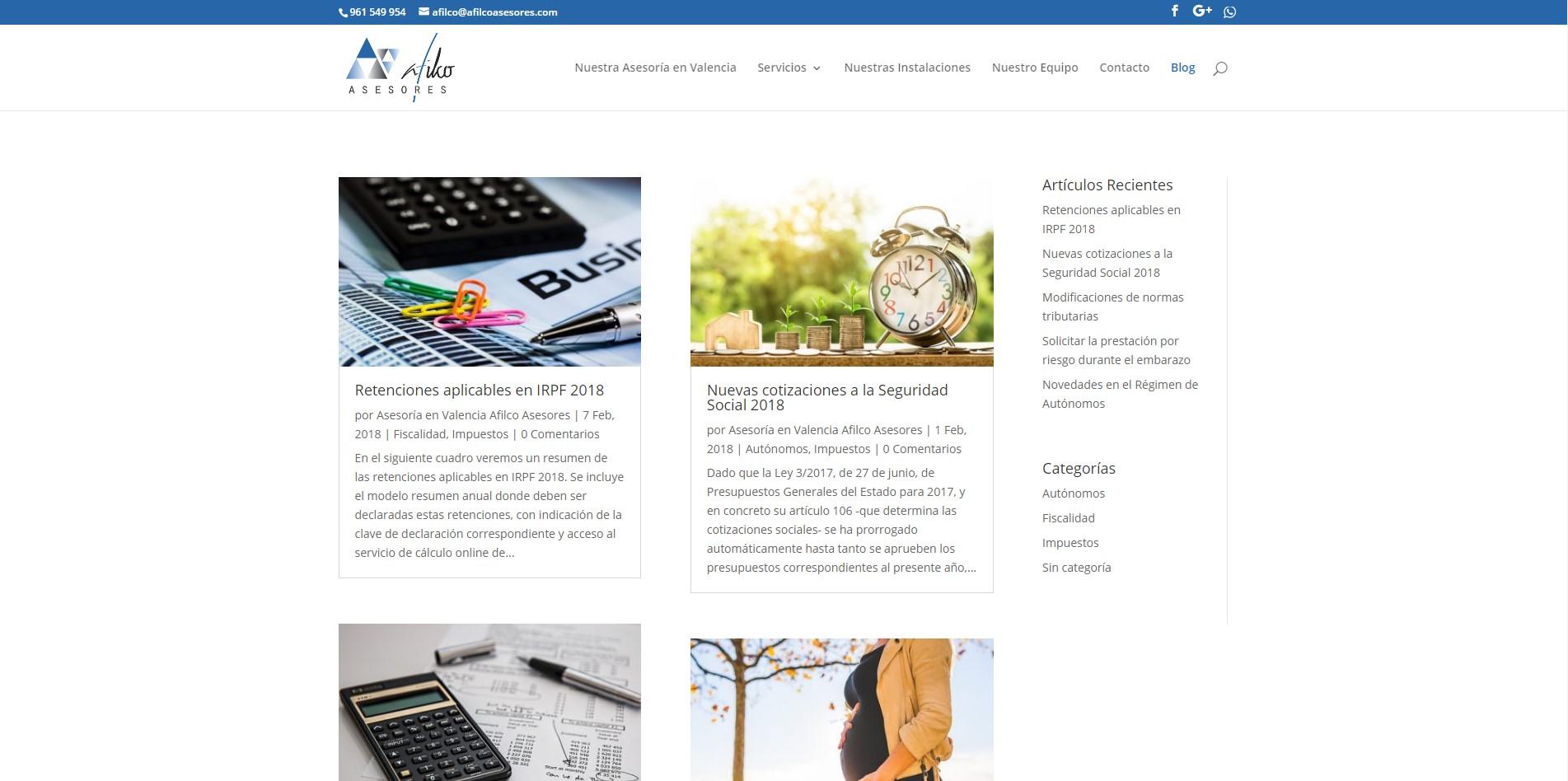 Diseño Web Afilco Asesores imagen 4
