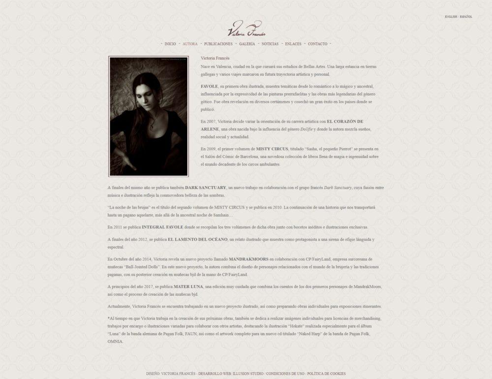 Diseño Web Victoria Francés imagen 3