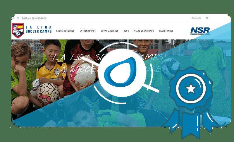 Caso de éxito Diseño web La Liga Soccer Camps