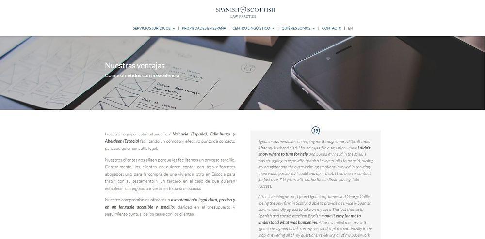 Diseño web Spanish + Scottish Law Practice imagen 4