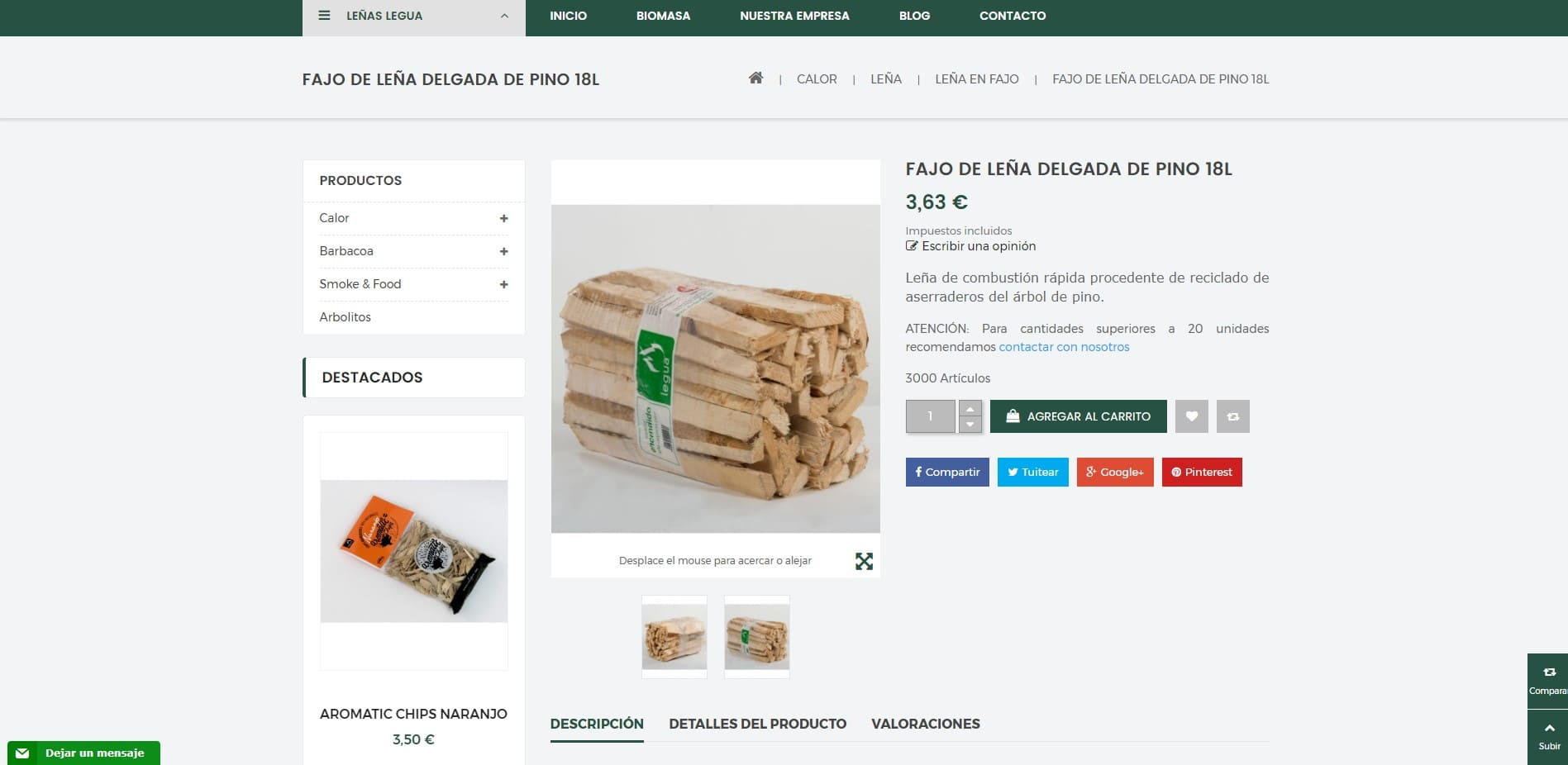 Tienda online Leñas Legua imagen 3