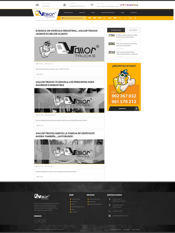 Desarrollo web Vallor Trucks imagen 5