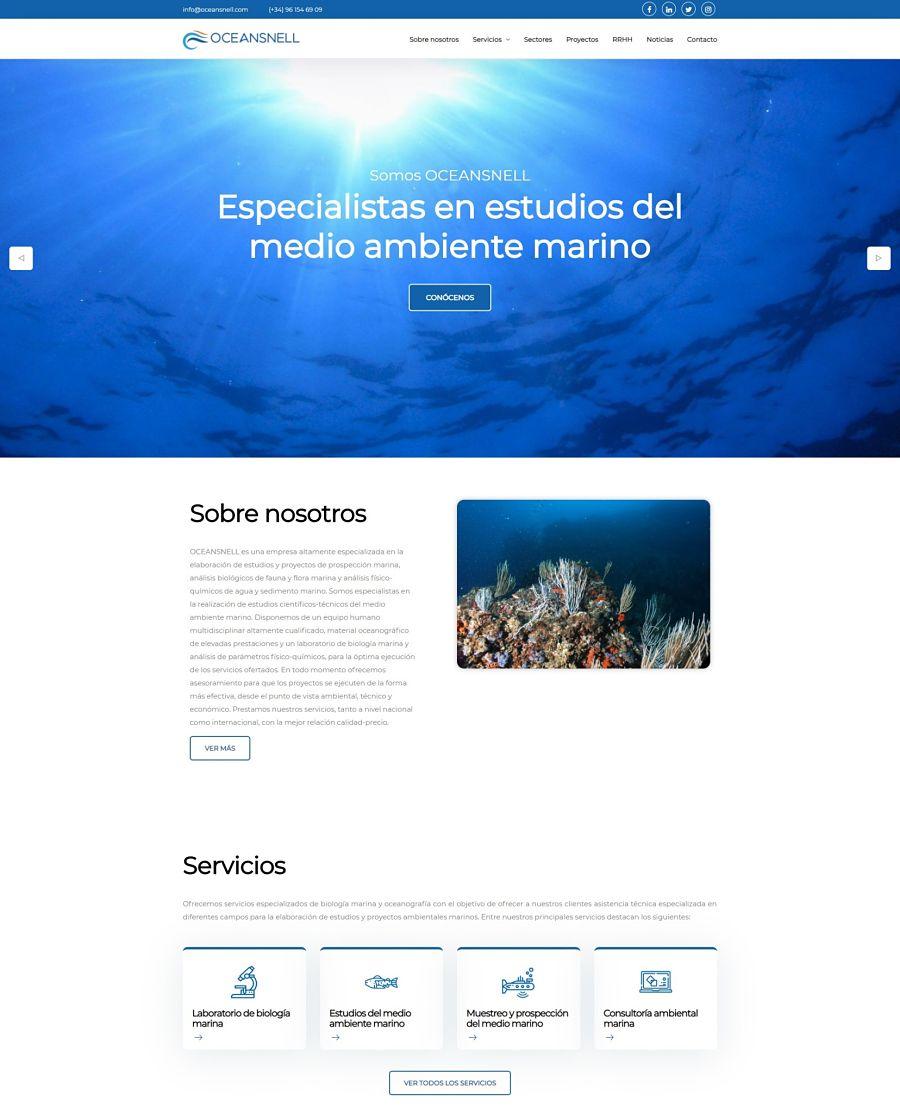 Web a medida oceansnell